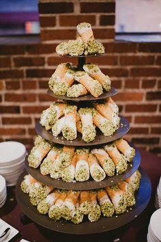 Find This Pin And More On Wedding Inspiration Cannoli Tower Instead Of Cake