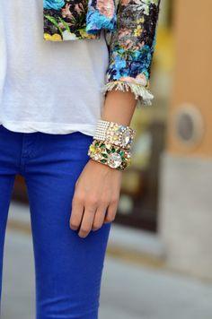 bold bracelets.