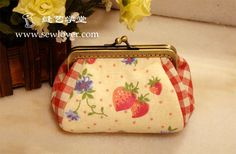 10 cm rectangular purse tutorial and pattern