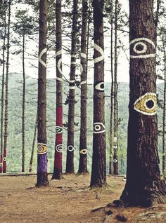 Oma forest is a work of art created by Agustin Ibarrola, a Basque sculptor and painter. The work is located in a forest near Kortezubi (Bizk...