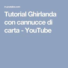 Tutorial Ghirlanda con cannucce di carta - YouTube