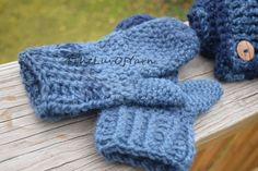 Crochet Scarf Neck Warmer Mittens Gift for her by 4TheLuvOfYarn