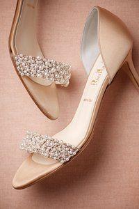 Pretty in pearl heels.