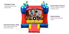 The Magic Castle Bounce House is Small Enough for Indoor Use, Big Enough for a Party. Excellent Value. Top Selling Bouncer Worldwide. ✓ FREE SHIPPING