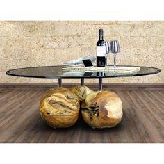 Couchtisch Massivholz Design Teak 120x80