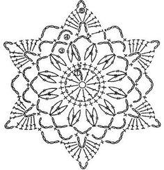 trendy Ideas for crochet granny square star beautiful Crochet Snowflake Pattern, Crochet Stars, Crochet Motifs, Crochet Snowflakes, Crochet Diagram, Doily Patterns, Thread Crochet, Crochet Granny, Crochet Doilies