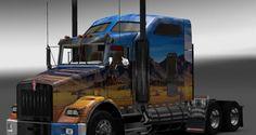 Euro Truck Simulator 2 Peterbilt T800 Western Skin   Euro Truck Simulator 2 Yamaları   ModdingTR.com - Oyun Yamaları,Oyun Haberleri