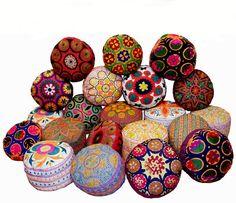 orient nomaden bodenkissen zusani Kissen Vintage Silk embroidery cushion pillow