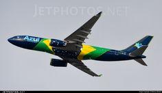 Azul Linhas Aereas Brasileiras Airbus A330-243 (registered PR-AIV) Azul Brazilian Airlines, Airbus A330, Photo Online, Airplane, Planes, Aviation, Jet, Aircraft, Around The Worlds