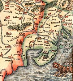 Ancient Netherlands - The Ancient History of Holland   A map of the ancient Netherlands, with south situated at the top