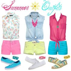 Bright Summer 2013 Outfits on ForeverFaith