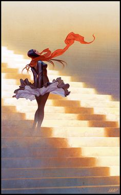 stairs and stripes by `janaschi on deviantART