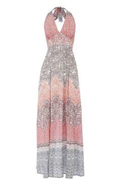 Ombre Floral Maxi Dress