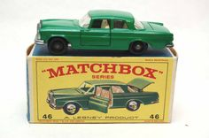 No.46 Mercedes Benz 300se Green & Original Box by Matchbox Lesney England 60's toy Car Great Gift Idea Stocking Stuffer for him by RememberWhenToys on Etsy