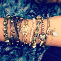 boho style arm party de jour #bracelets