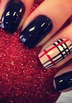 Kari Im stealing these!!!! Burberry nails