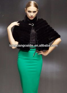 CDS089 2013 Europe hot sale fashion winter whole mink fur poncho with one shining beautiful button for women in winter