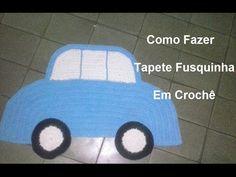 Tapete Fusquinha de Crochê (passo a passo) - Maricelia Cardoso - YouTube
