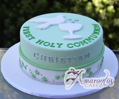 Confirmation Cakes | Confirmation Dove Cake Communion cake ac17 First Communion Party, Communion Cakes, Confirmation Cakes, Ideas Para Fiestas, Girl Cakes, Cub Scouts, Party Cakes, Cake Ideas, Holi