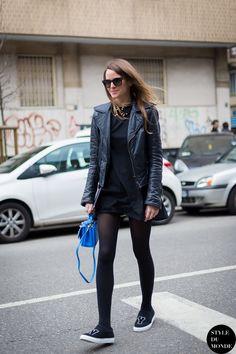 New post on http://www.styledumonde.com with #CarlottaOddi @Carlotta Oddi at #milan #fashionweek #mfw #fw14. Photo by @Style DuMonde #balenciaga #allblack #outfit #ootd #streetstyle #streetfashion #streetchic #streetlook #fashion #mode #style #weloveit #styledumonde