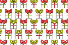 Gift Boxes. Seamless Pattern  on @creativework247