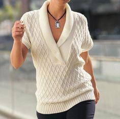 Women's Hand Knit V-neck Sweater 30J – KnitWearMasters