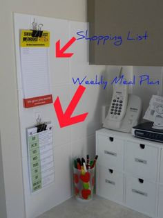 I like the meal plans and shopping lists on bulldog clips