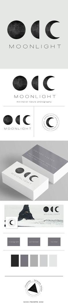 Moonlight Photographer Premade Brand Launch (sold only once) | FEMMRE - Chic Premade Branding | logo design, brand design, branding, premade brand, premade logo