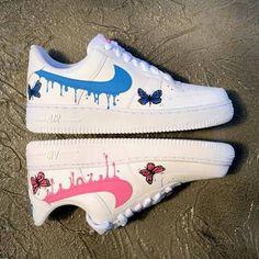 Cute Nike Shoes, Cute Sneakers, Nike Air Shoes, Sneakers Nike, Air Force One Shoes, Nike Air Force 1, Swag Shoes, On Shoes, Jordan Shoes Girls