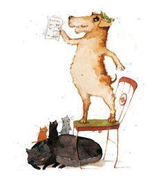 """yarviart: Иллюстрации для рассказа Саши Чёрного""""Дневник фокса Микки"""""""