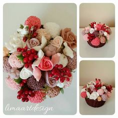 soap Flower bouquet parfume soap basket fruits by limaartdesign