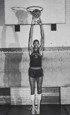 #TBT.....photo of Wilt Chamberlain at Overbrook High School in Philadelphia Pa. Today would have been his 78th Birthday