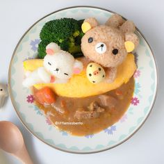 Rilakkuma Omurice with Curry