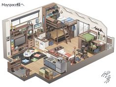 Sims 4 House Building, Sims House Plans, Building Art, Building A New Home, Sims Free Play, Casas The Sims 4, Sims House Design, Music Studio Room, Isometric Art