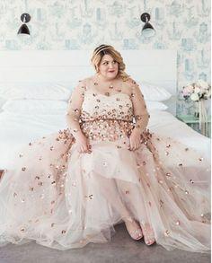 e28c1f1667b 10 plus-size brides who said  No  to the traditional dress