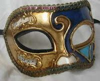 Blue and Gold Men's Mask