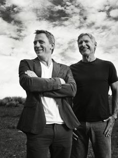 daniel craig and harrison ford by michael muller