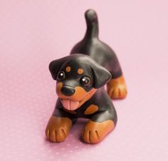 Rottweiler dog sculpture by SculptedPups.deviantart.com on @DeviantArt