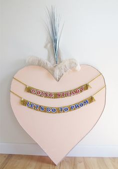 NEW PRODUCT, NEW SHOP! Going Steady Fringe Banner  Playground Love Collection by FunCult, $34.00