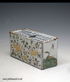 English Delftware polychrome coloured flower brick early 18th century