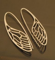 Cicada wings earings