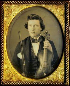 The Violin Player Violinist Daguerreotype Dag Handsome Musician His Instrument | eBay