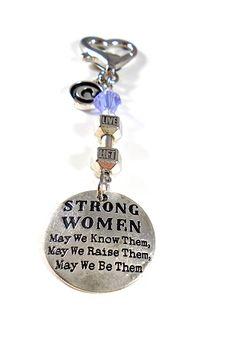 305a6021c04 Strong Women ~ Dumbbell Gym Keytag Charm or Zipper Pull with Swarovski  Birthstone Crystal