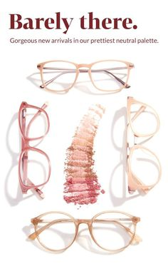 Neutral Eyeglasses from Zenni Subtle glasses with a light touchits like theyre barely there. Looks Style, Looks Cool, Style Me, Gypsy Style, Cute Glasses, New Glasses, Glasses Online, Pink Glasses Frames, Look Fashion