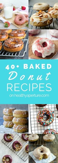 Got a donut pan, but not sure what healthy donuts to make in it? Here are more than 40 baked donut recipes to choose from!