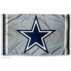 Dallas Cowboys Metallic Silver Flag Sports Flags and Penn…