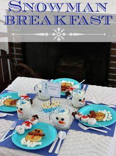 #snowman #breakfast #santaclausletters www.fatherchristmasletters.co.uk/pinterest