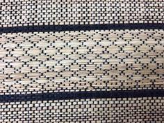 DETAIL / Raphia naturel & raphia teinté / tissage fait main