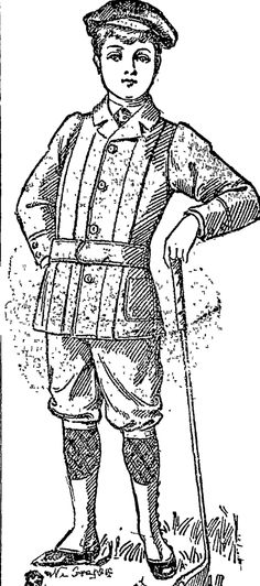 SHE GOLF SUIT. •' (Auckland Star, 19 August 1899)