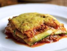 Lasagne de courgettes Weight Watchers, recette d'un plat léger, facile et simple à réaliser pour un déjeuner ou un repas du soir.